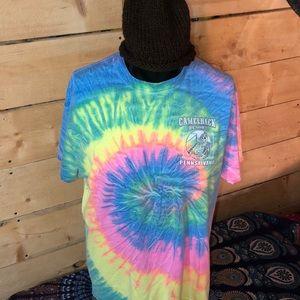 Camelback Ski Resort tie-dye T-shirt. Size XL